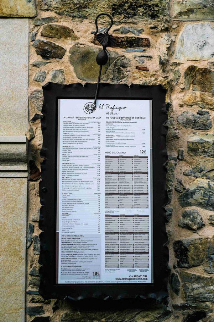 Fotografía-carta-exterior-Rabanal-del-Camnio-El-Refugio-Hosteria-NARUA_