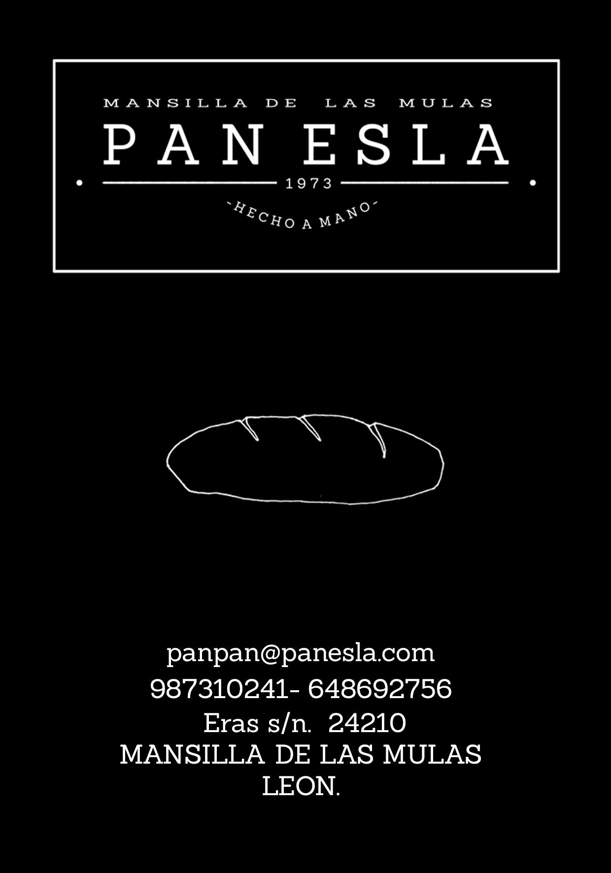 Tarjeta flyer panificadora Pan Esla creadas por Narua
